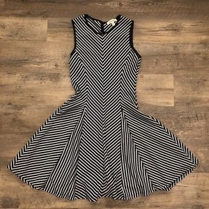 Striped Skater Dress Size S